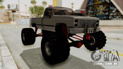 Chevrolet Silverado Classic 1985 Monster Truck para GTA San Andreas vista direita