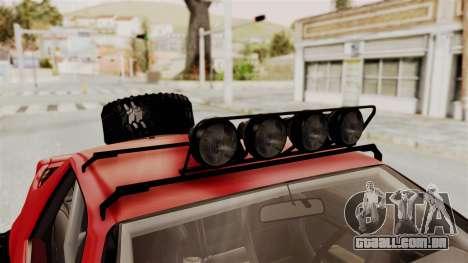 Chevrolet Camaro 1990 IROC-Z Rusty Rebel para vista lateral GTA San Andreas