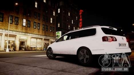 Volkswagen Passat Variant 2010 V1 para GTA 4 traseira esquerda vista