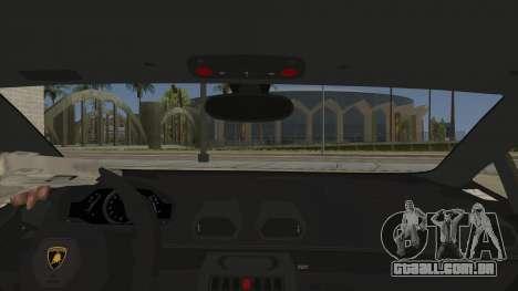 Lamborghini Huracan Liberty Walk para GTA San Andreas vista interior