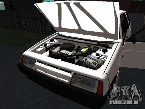 VAZ 2108 Stock by Greedy para GTA San Andreas interior