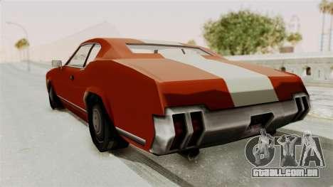 Beta VC Sabre Turbo para GTA San Andreas vista direita