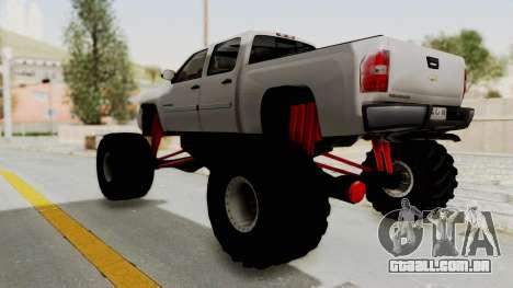 Chevrolet Silverado 2011 Monster Truck para GTA San Andreas vista direita