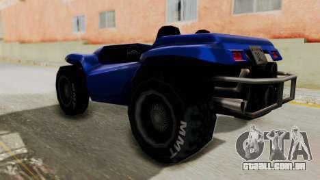 BF Buggy para GTA San Andreas esquerda vista