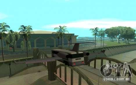 Sky Bus para GTA San Andreas traseira esquerda vista