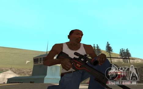 Redline weapon pack para GTA San Andreas quinto tela