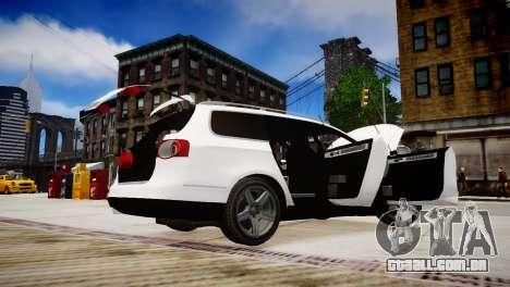 Volkswagen Passat Variant 2010 V1 para GTA 4 vista superior