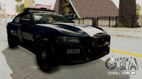 Dodge Charger RT 2016 Federal Police para GTA San Andreas vista direita