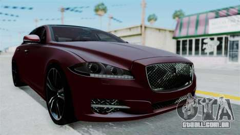 Jaguar XJ 2010 para GTA San Andreas vista direita