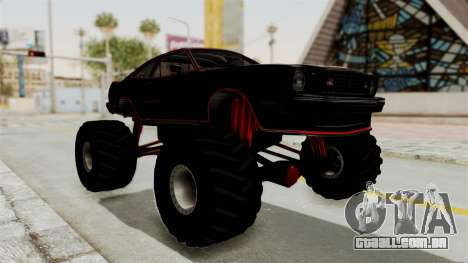 Ford Mustang King Cobra 1978 Monster Truck para GTA San Andreas vista direita