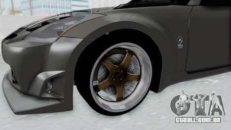 Nissan 350Z V6 Power para GTA San Andreas vista traseira