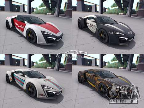 A W Motors, Lykan hypersport 2015 HQ para vista lateral GTA San Andreas