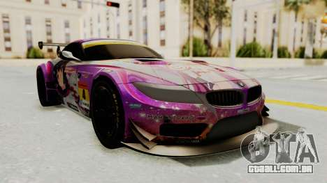 BMW Z4 GT3 Tobisawa Misaki para GTA San Andreas traseira esquerda vista