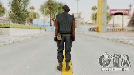 MGSV Phantom Pain Rogue Coyote Commander para GTA San Andreas terceira tela