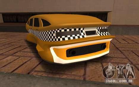 Flying Taxi para GTA San Andreas traseira esquerda vista