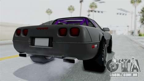 Chevrolet Corvette C4 Drag para GTA San Andreas traseira esquerda vista