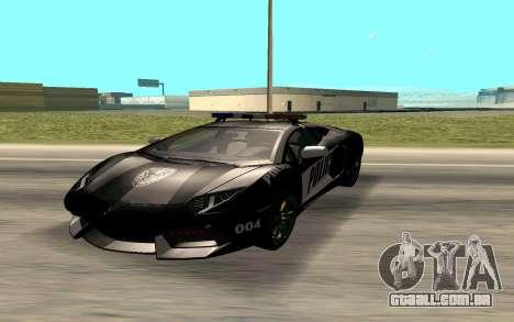 Lamborghini Reventon Police para GTA San Andreas
