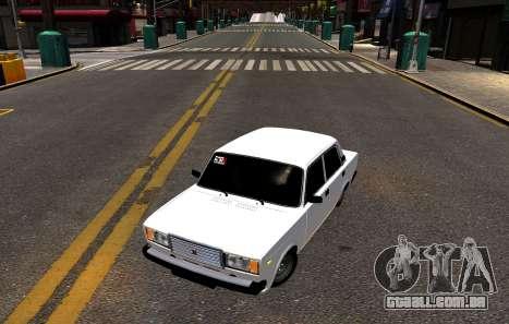 VAZ 2107 BPAN para GTA 4 traseira esquerda vista