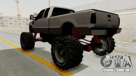 Ford F-350 Super Duty Monster Truck para GTA San Andreas vista direita