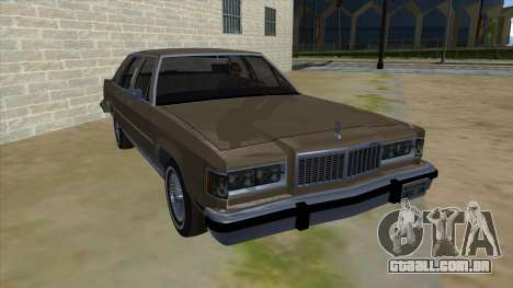 Mercury Grand Marquis 1986 v1.0 para GTA San Andreas vista traseira