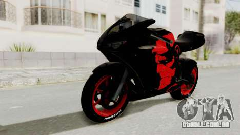 Bati Batik Hellboy Motorcycle v3 para GTA San Andreas traseira esquerda vista