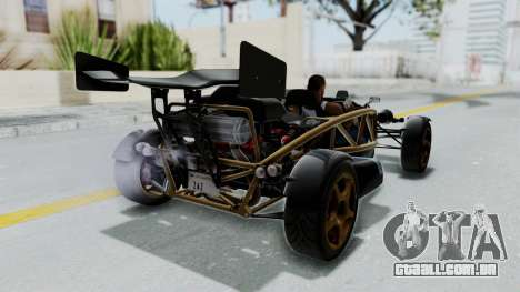 Ariel Atom 500 V8 para GTA San Andreas traseira esquerda vista