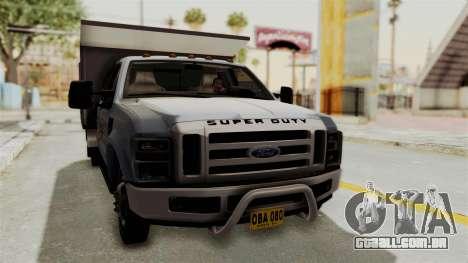 Ford F-350 Super Duty Volqueta para GTA San Andreas vista direita