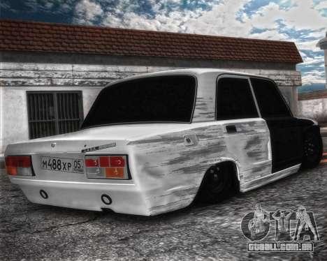VAZ 2107 Hobo para GTA San Andreas esquerda vista