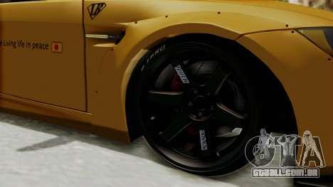 BMW M3 E92 Liberty Walk para GTA San Andreas vista traseira