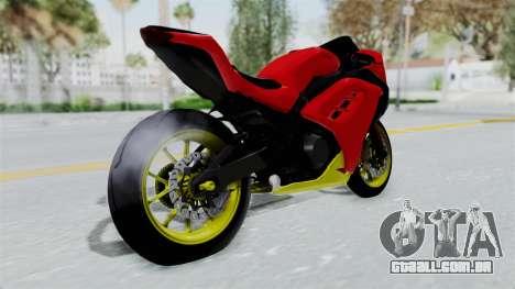 Kawasaki Ninja 250FI Anak Jalanan para GTA San Andreas esquerda vista