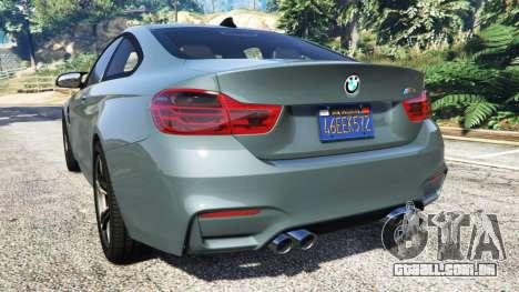 GTA 5 BMW M4 GTS traseira vista lateral esquerda