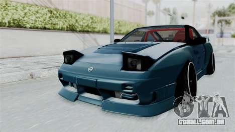 Nissan 180SX BETA para GTA San Andreas traseira esquerda vista
