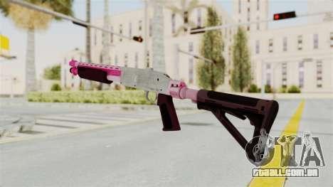 GTA 5 Pump Shotgun Pink para GTA San Andreas segunda tela