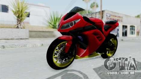 Kawasaki Ninja 250FI Anak Jalanan para GTA San Andreas vista direita