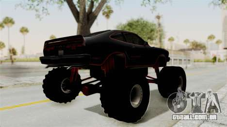 Ford Mustang King Cobra 1978 Monster Truck para GTA San Andreas traseira esquerda vista