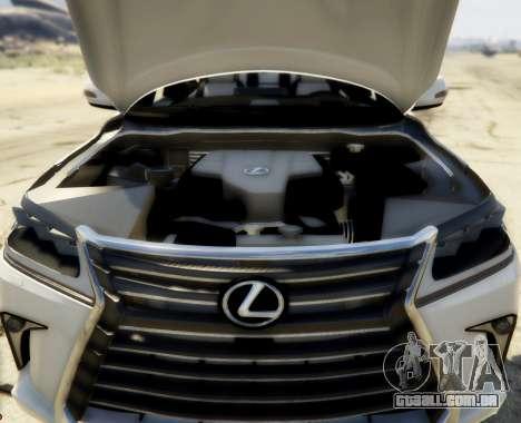 GTA 5 2016 Lexus LX 570 traseira direita vista lateral