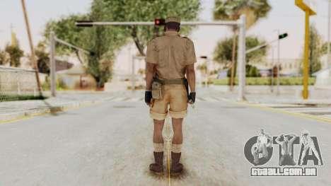 MGSV Phantom Pain CFA Soldier v1 para GTA San Andreas terceira tela