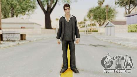 Scarface Tony Montana Suit v2 with Glasses para GTA San Andreas