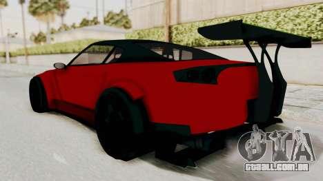 GTA 5 Annis Elegy Twinturbo No Spec para GTA San Andreas traseira esquerda vista
