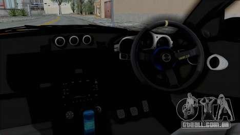 Nissan 350Z V6 Power para GTA San Andreas vista interior