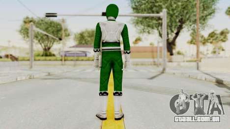 Power Rangers Lost Galaxy - Green para GTA San Andreas terceira tela