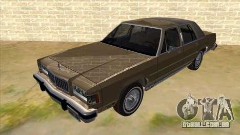 Mercury Grand Marquis 1986 v1.0 para GTA San Andreas