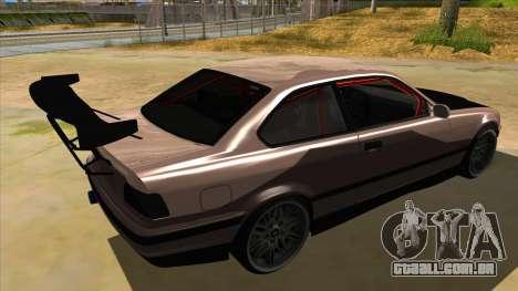 BMW M3 Drift Missile para GTA San Andreas vista direita