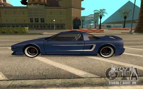 Infernus BlueRay V12 para GTA San Andreas esquerda vista