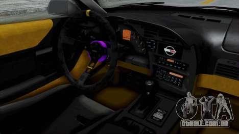 Chevrolet Corvette C4 Drift para GTA San Andreas vista interior