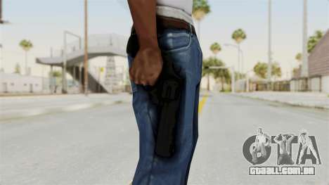 Colt .357 Black para GTA San Andreas terceira tela