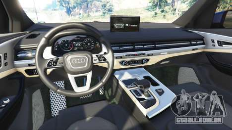 GTA 5 Audi Q7 2015 [rims2] traseira direita vista lateral