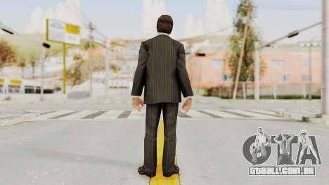 Scarface Tony Montana Suit v2 with Glasses para GTA San Andreas terceira tela