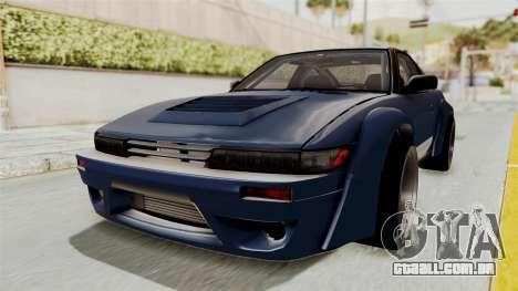 Nissan Silvia Sil80 para GTA San Andreas traseira esquerda vista