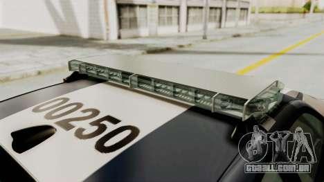 Dodge Charger RT 2016 Federal Police para o motor de GTA San Andreas